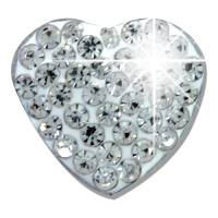 WHITE PAVE HEART BJT921